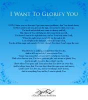 I WANT TO GLORIFY YOU by amitrichard