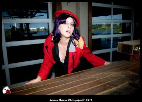 Drunk Misato by thealicemalice