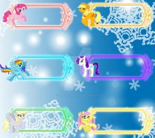 My Little Pony FIM Holiday Gift Tags by YuniNaoki