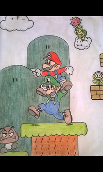 Super Mario Brothers by LillithLaviathan