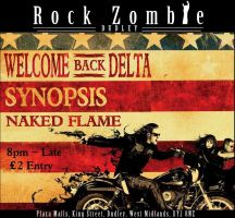 Rock Zombie Welcome Back Delta Poster by TheMajikelOne