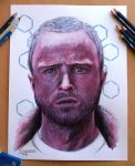 My pencil drawing of Jesse Pinkman by AtomiccircuS