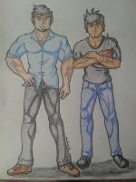 Alex Spectre and Gabriel Hunter by AniLover16