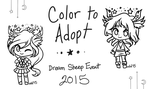 :Color to Adopt: Dream Sheep Set OPEN by oddlittleleaf