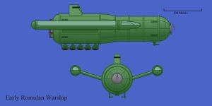 Early Romulan Chariot class Warship by Imperator-Zor