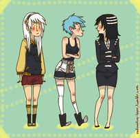 Soul Eater girls by Marysmelody
