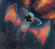 Zubat Use Leech Life by ArtExxo