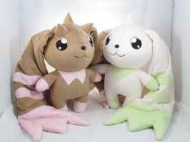 Lopmon and Terriermon by MagnaStorm