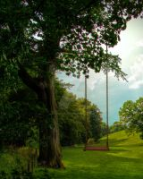 Tree with Swing Background FGM by FairieGoodMother