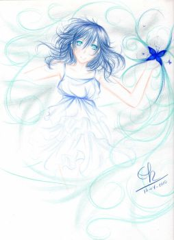 Blue Butterfly. by Berichan