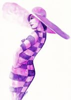 Purple 60s by LaraInPink