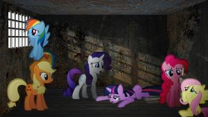 Mane 6 In A Cell by Mr-Kennedy92