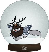 Mothcats Advent Day 25: Fluffy Reindeer by doroling