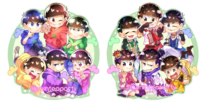Double Sided Osomatsu-san Keychain by minteaparty