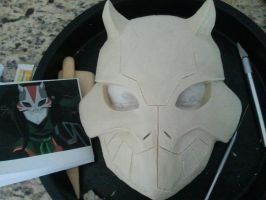 Cheshire Mask Progress by MaskedMenoly