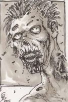 Daily Sketch Card - zombie by tbeistel