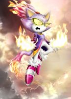 Blaze the Cat by Ahyicodae