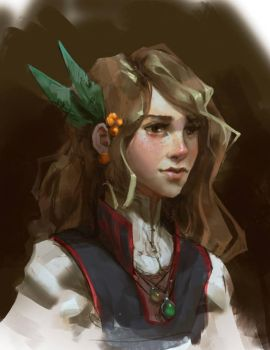 Young Herbalist by Rhasdra