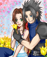 Zack and Aerith by Honoka
