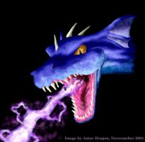 Lightening Dragonhead by Antar-Dragon