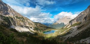 alps mountain view with lake 2 by ThorBet