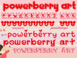 Font Pack (2) by PowerBerry10