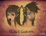 Electra and Constantine by VampireCherry