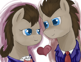 DoctorXProfessor~Hearts and Whooves day by DragonsAndDreamscape