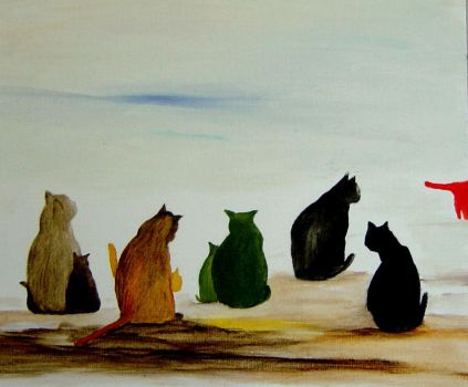 Cats and their Kittens by MeralSarioglu