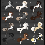 Horse Adoptables | 1 LEFT by Dakaree