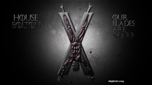 The banner of house Bolton by mrminutuslausus