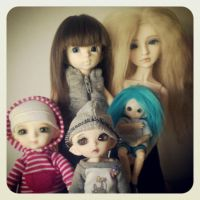 Impromptu Family Photo - October 2012 by amongthedolls