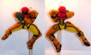Needle Felting: Samus Aran by randomproxy
