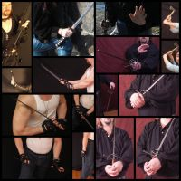 Hands Reference 004 - Blades by geoectomy-stock