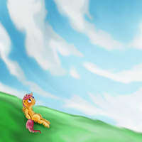 Scootaloo Summer sky by Mlle-Honey
