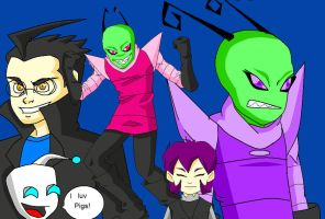 Invader Zim main cast by Snowflake-owl