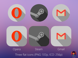 Three flat icons (FREE) by CryDagon