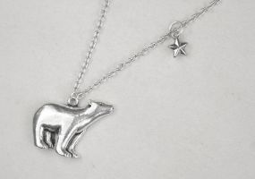 Wish upon a Star - Polar Bear Necklace by foowahu-etsy