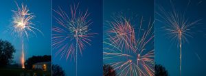 4th of July Fireworks Stock 38 by AreteStock