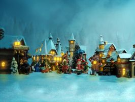 Welcome to the Christmas Village by mrscats