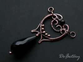 Baroque pendant by SilverDeFactory