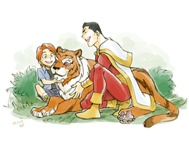 Gar, Tawny and Captain Marvel by Sii-SEN