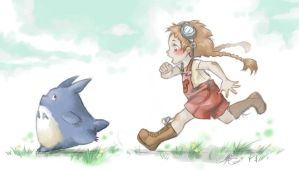 Please dont run, Totoro by Daremoinaimachi