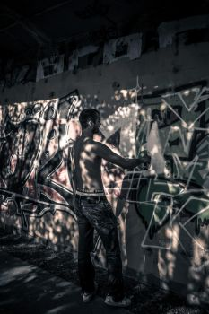 Graffiti artist by III-HATHOR-III
