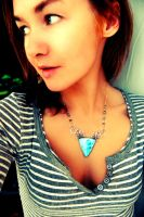 Necklace SeaLilly 1 by honeypunk