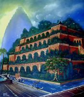Hanging Gardens of Babylon by JohnHLynch