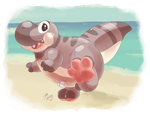 Beach Rex! by Robo-Shark
