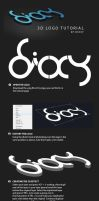 Dioxy 3D logo tutorial by dioxyzone