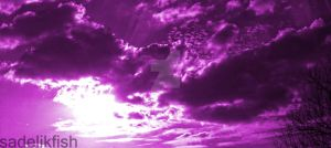 Purple sky by Sadelikfish