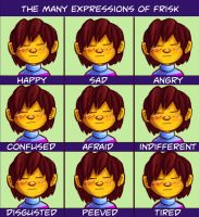 The many expressions of frisk by KreApex